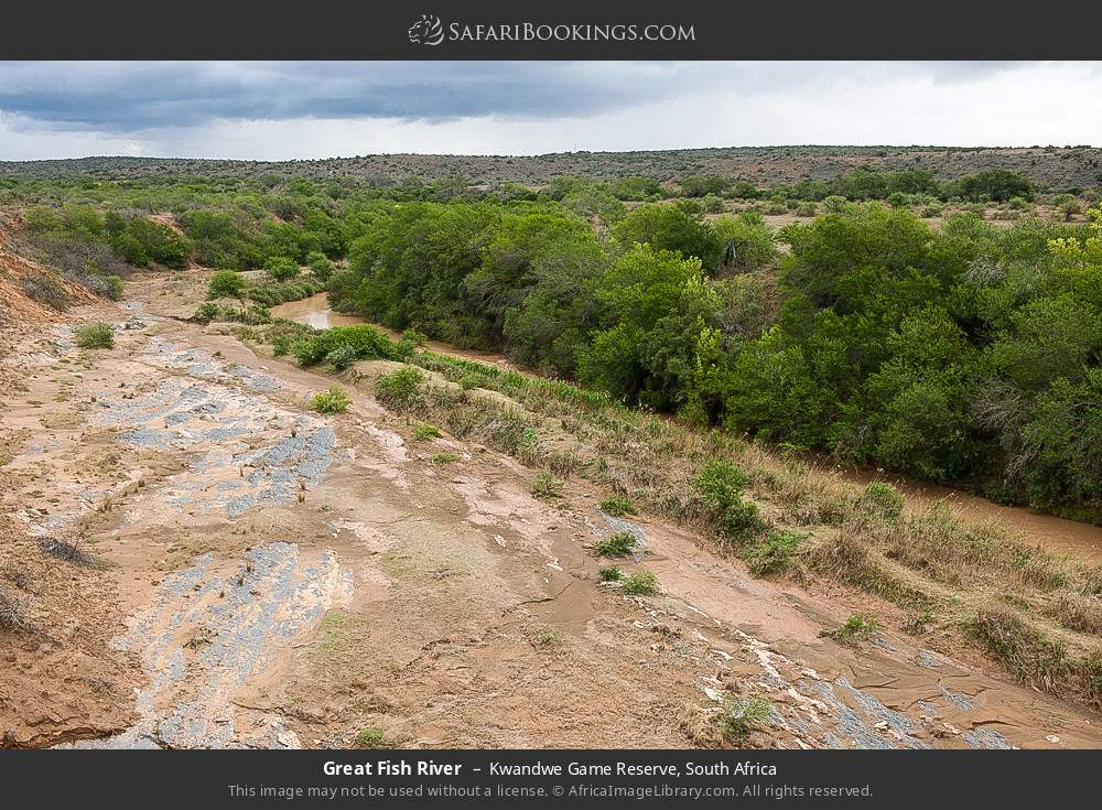 Great Fish River in Kwandwe Game Reserve, South Africa