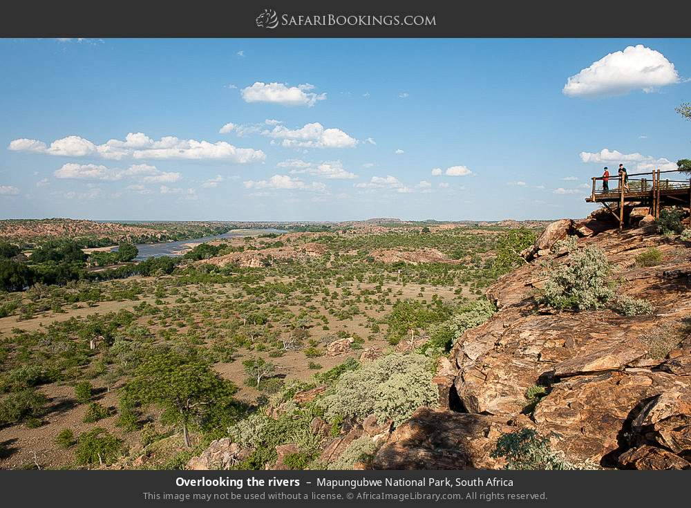 Overlooking the rivers in Mapungubwe National Park, South Africa