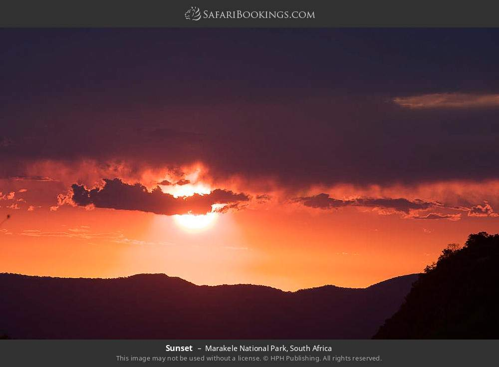 Sunset in Marakele National Park, South Africa