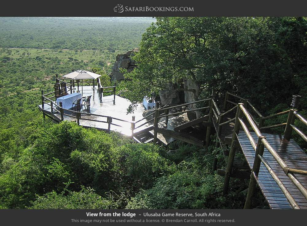 View from the lodge in Ulusaba Game Reserve, South Africa