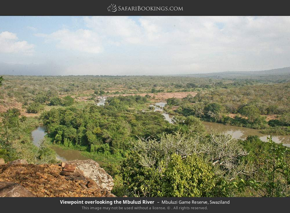 Viewpoint overlooking the Mbuluzi River in Mbuluzi Game Reserve, Swaziland