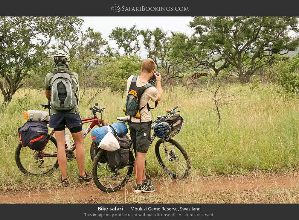 Bike safari in Mbuluzi Game Reserve, Swaziland
