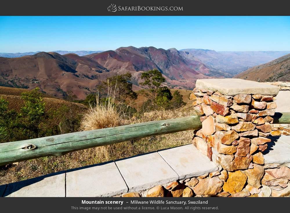 Mountain scenery in Mlilwane Wildlife Sanctuary, Swaziland
