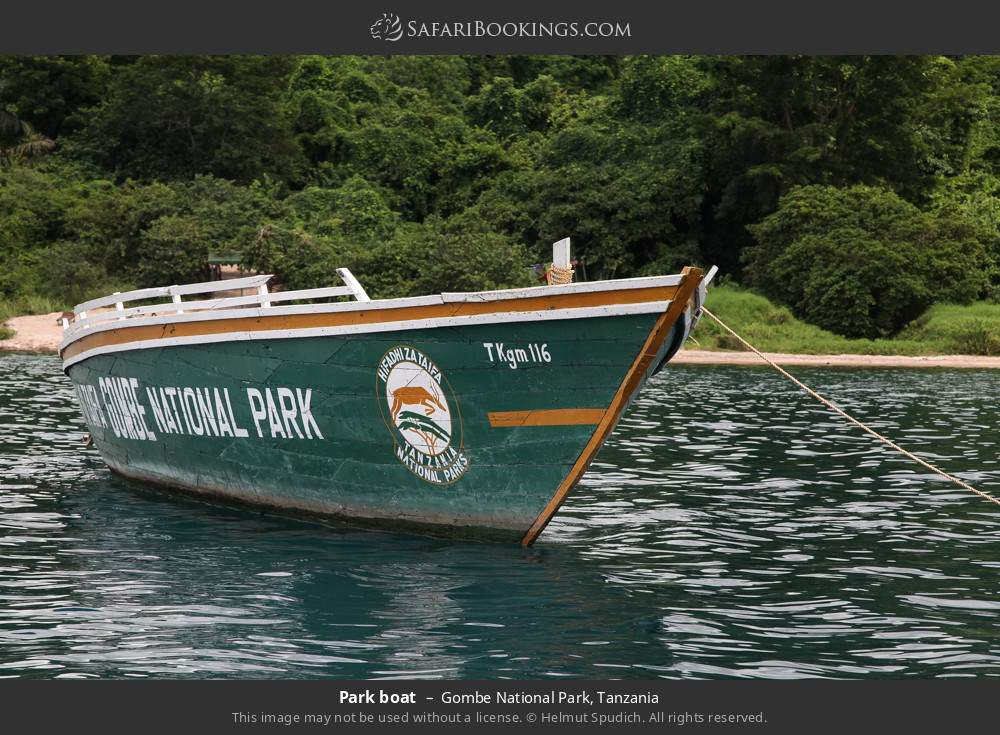 Park boat in Gombe National Park, Tanzania