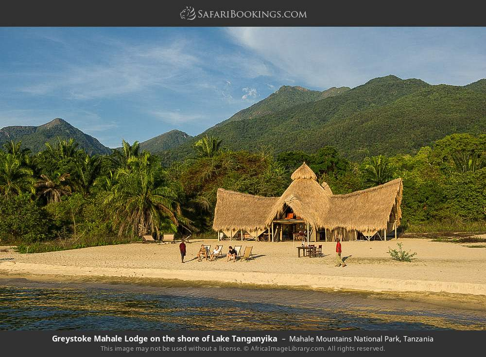 Greystoke Mahale Lodge on the shore of Lake Tanganyika in Mahale Mountains National Park, Tanzania