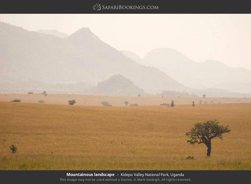 Mountainous landscape in Kidepo Valley National Park, Uganda