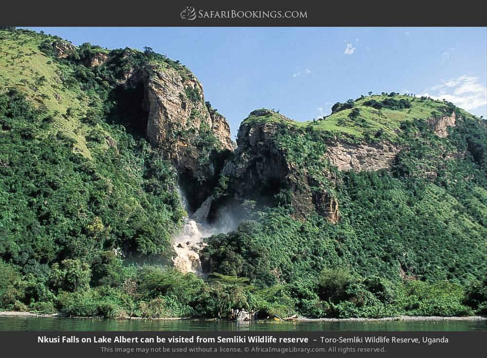 Nkusi Falls on Lake Albert can be visited from Semliki Wildlife reserve in Toro-Semliki Wildlife Reserve, Uganda