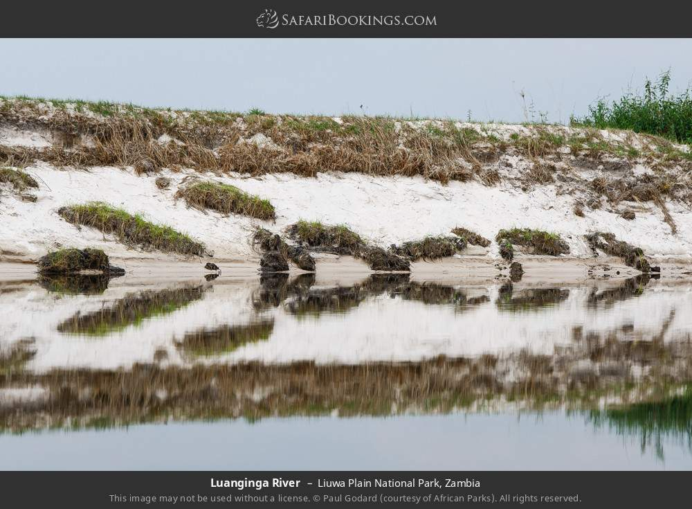 Luanginga River in Liuwa Plain National Park, Zambia