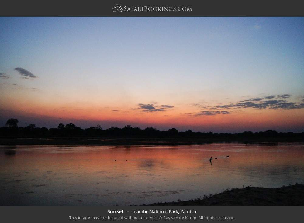 Sunset in Luambe National Park, Zambia