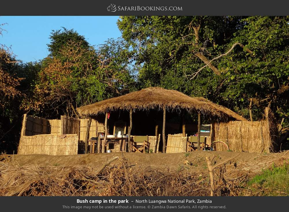 Bush camp in the park in North Luangwa National Park, Zambia