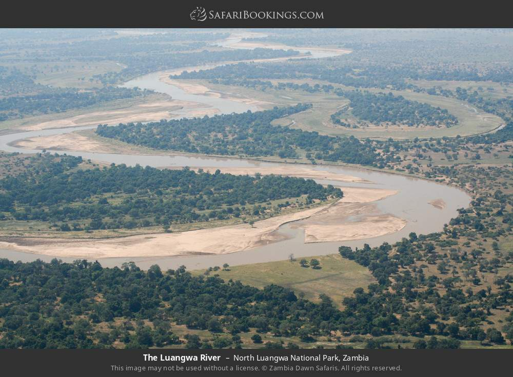 The Luangwa River in North Luangwa National Park, Zambia