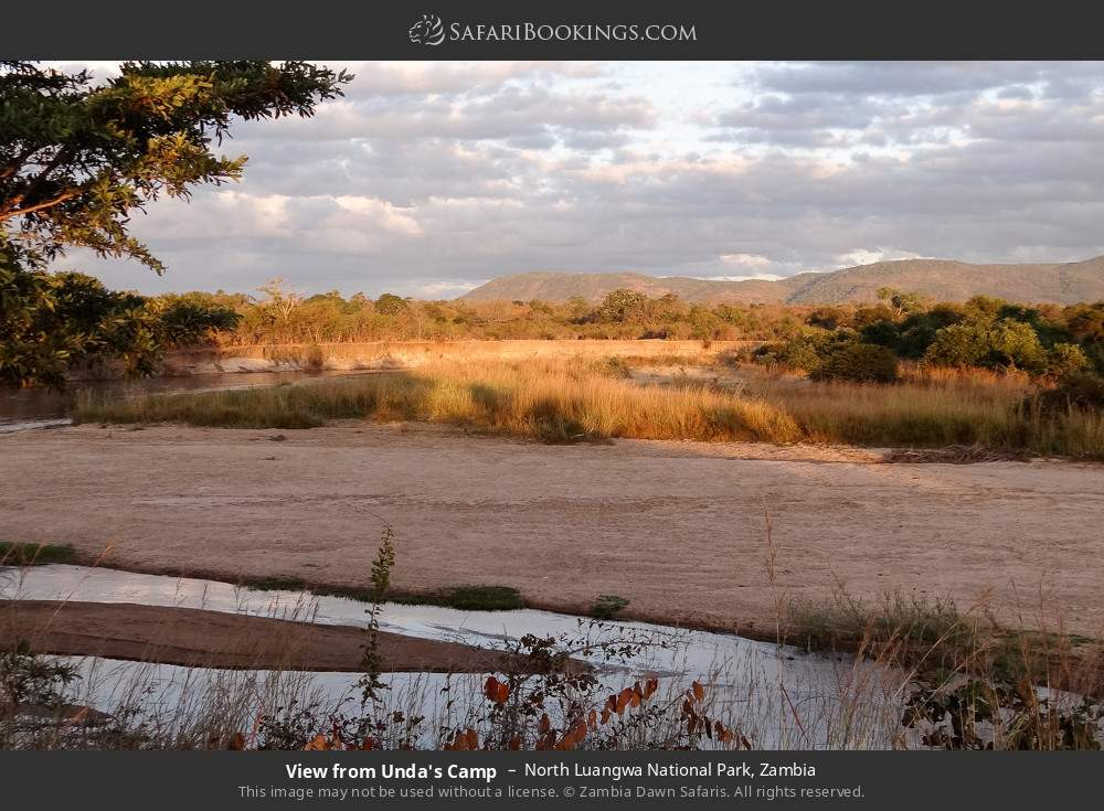 View from Unda's Camp in North Luangwa National Park, Zambia