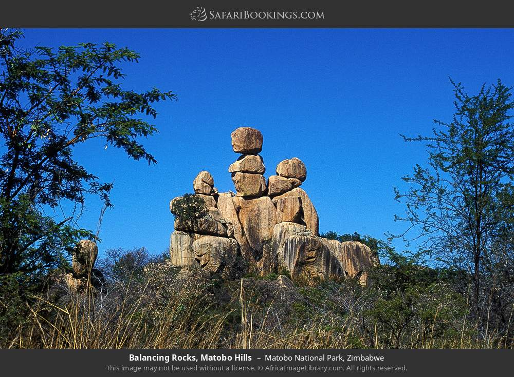 Balancing rocks, Matobo Hills in Matobo National Park, Zimbabwe