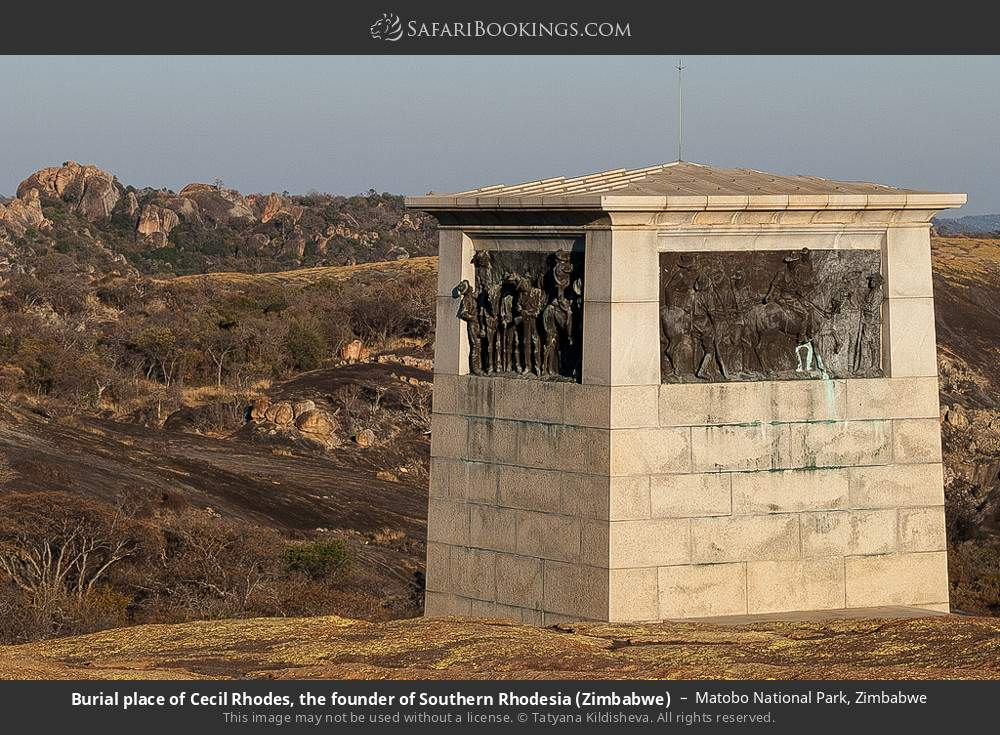 Burial place of Cecil Rhodes, the founder of Southern Rhodesia (Zimbabwe) in Matobo National Park, Zimbabwe