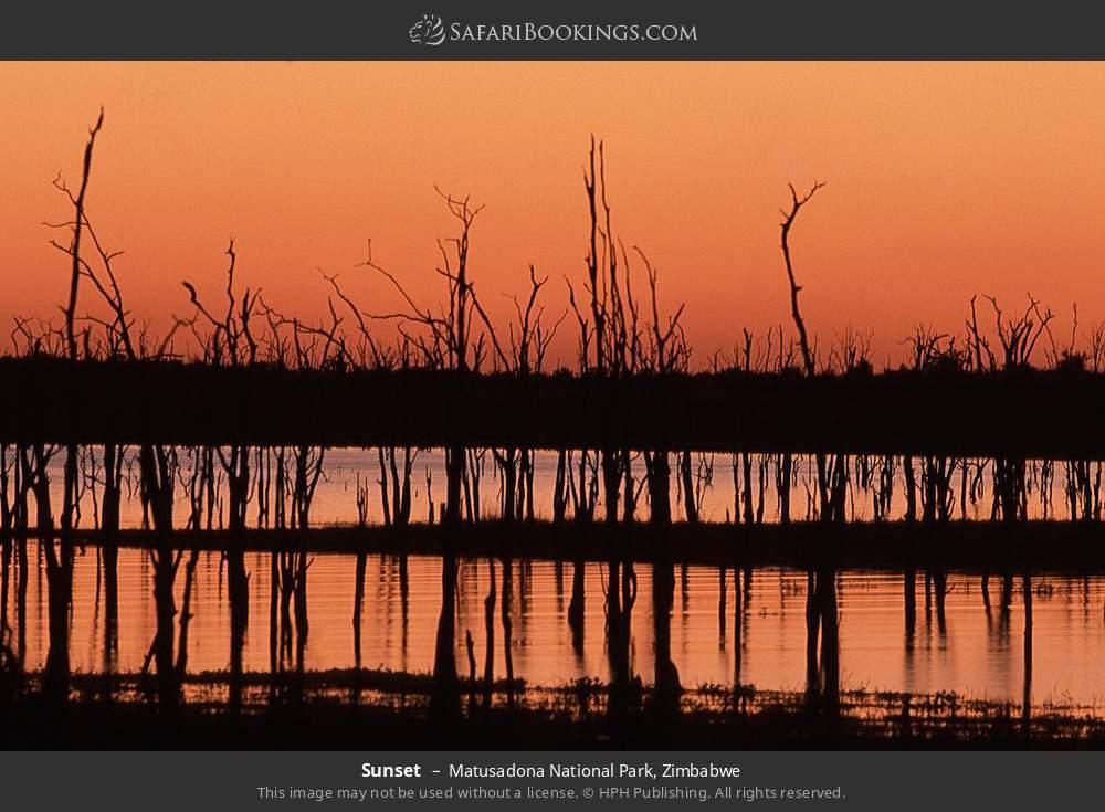 Sunset in Matusadona National Park, Zimbabwe