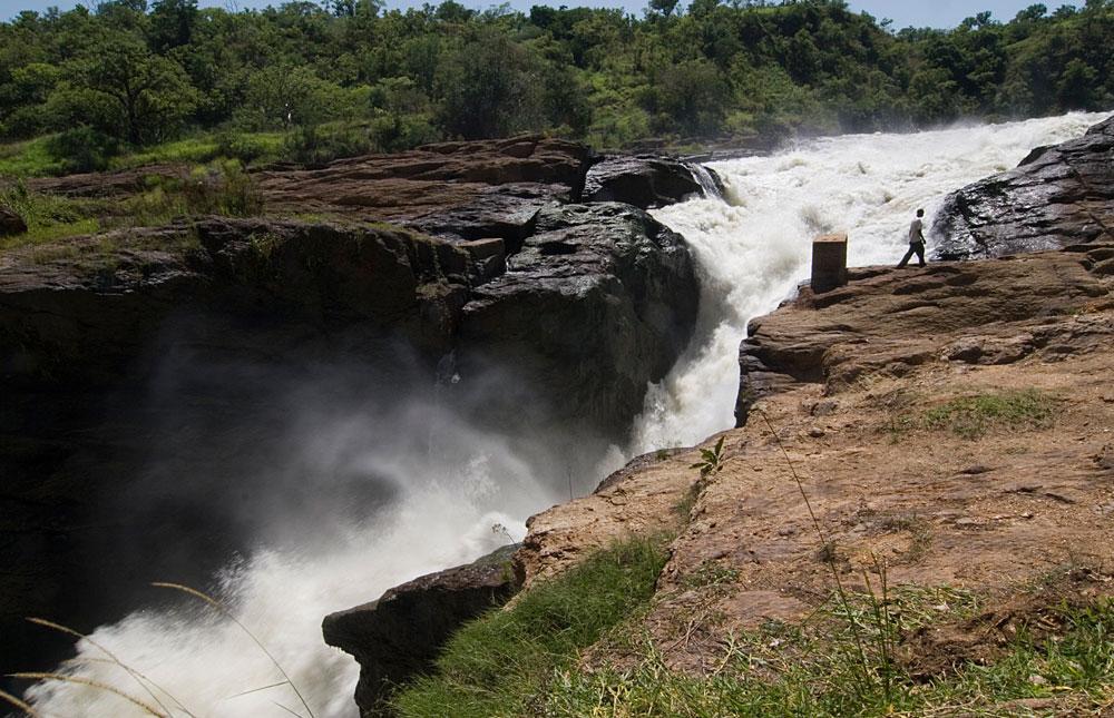 Murchison Falls seen from the top in Murchison Falls National Park, Uganda