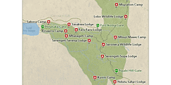 Serengeti Plains Africa Map.Serengeti National Park Travel Guide Map More