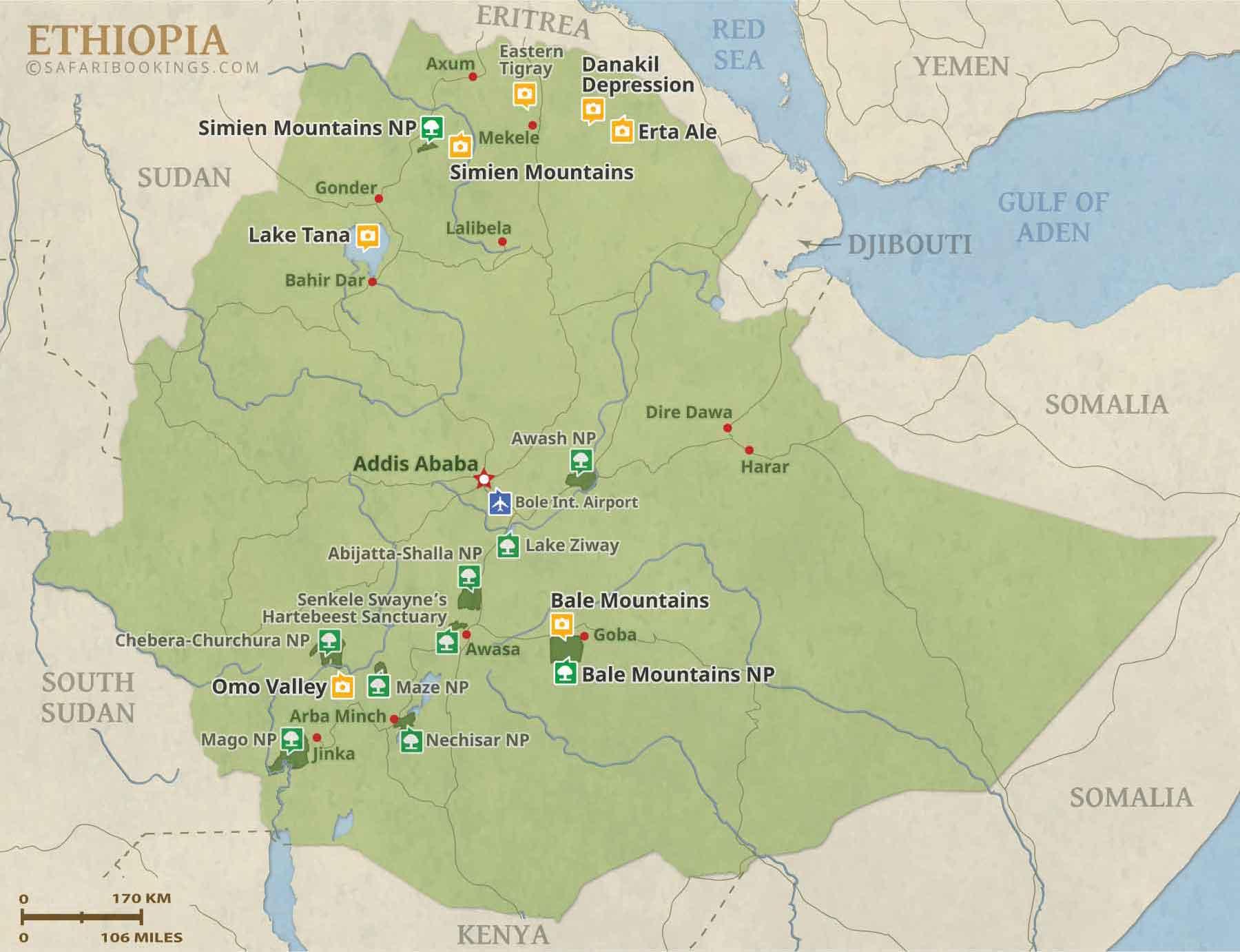 Popular Routes in Ethiopia