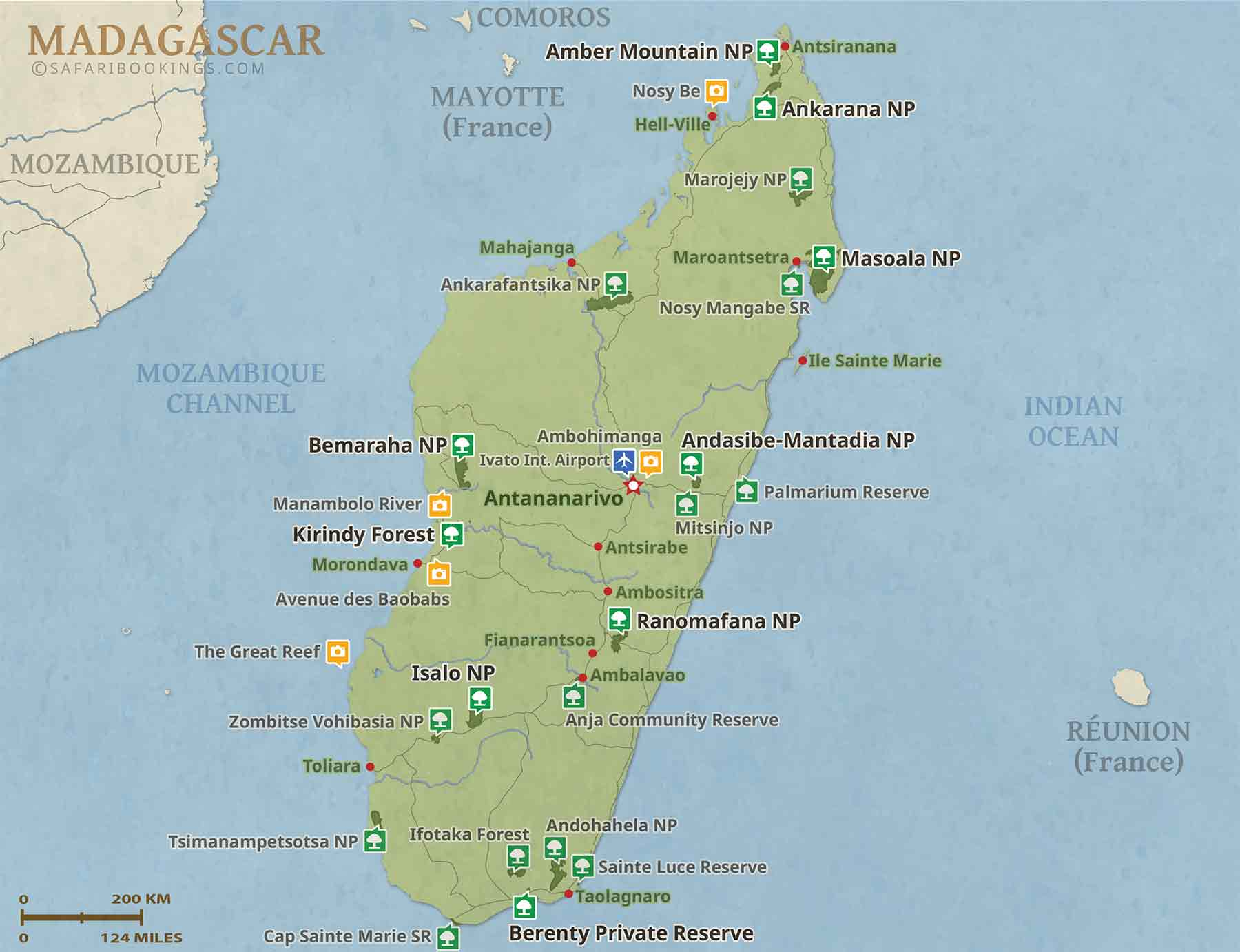 Detailed Map of Madagascar National Parks