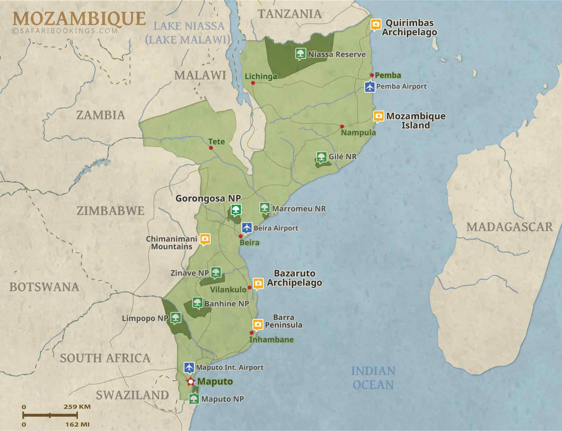 Popular Routes in Mozambique