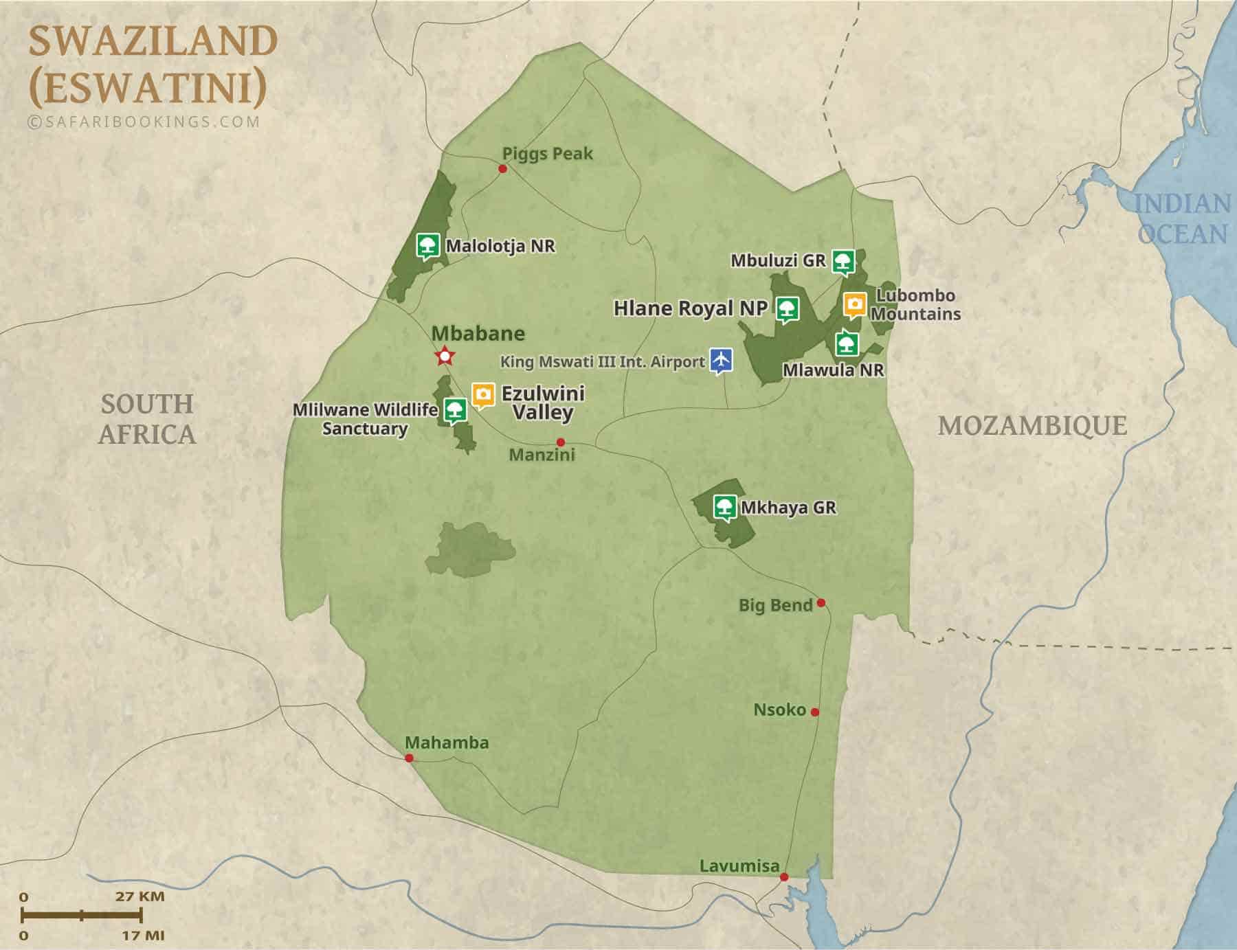 Popular Routes in Swaziland