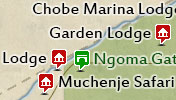 Click to view the map of Chobe National Park