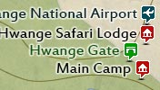 Click to view the map of Hwange National Park