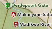 Click to view the map of Madikwe Game Reserve
