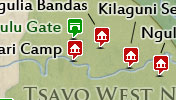 Click to view the map of Tsavo West National Park