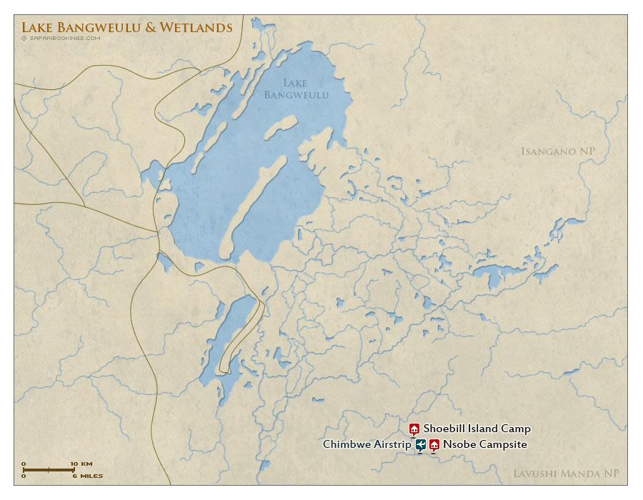 Detailed Map of Bangweulu Wetlands