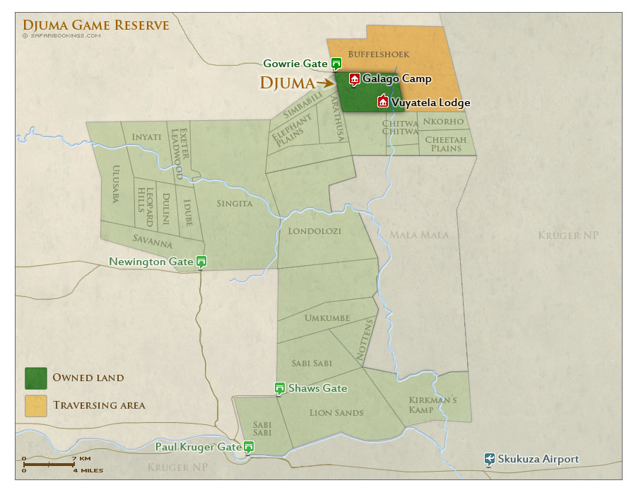 Detailed Map of Djuma Game Reserve