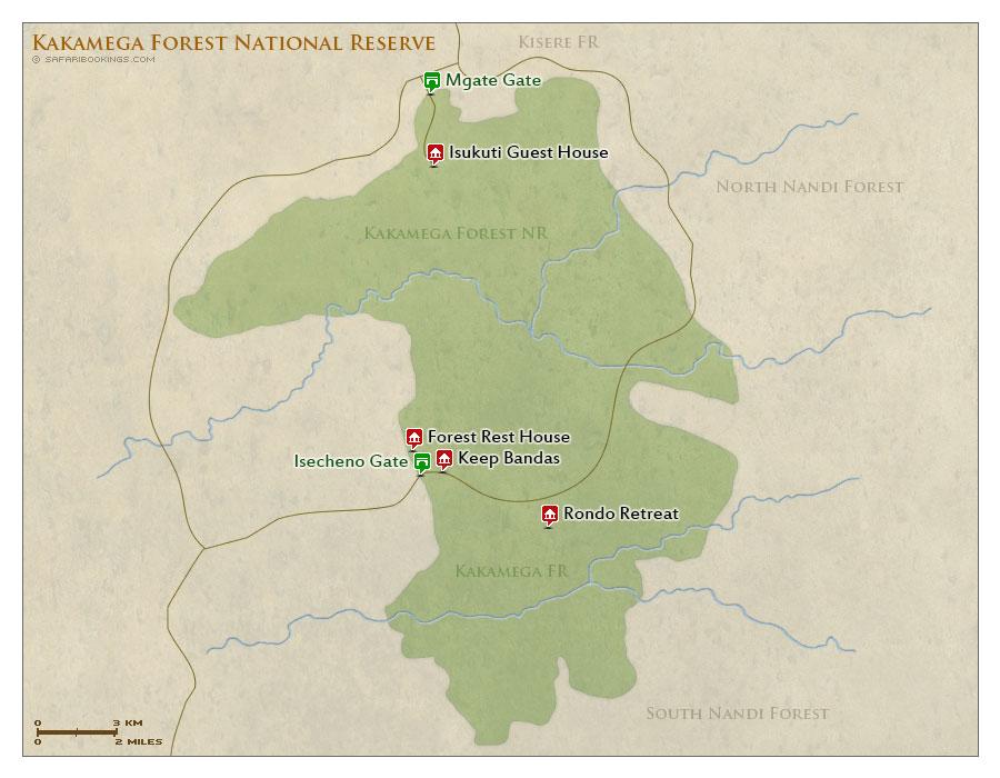 Detailed Map of Kakamega Forest National Reserve