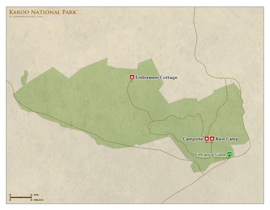 Detailed Map of Karoo National Park