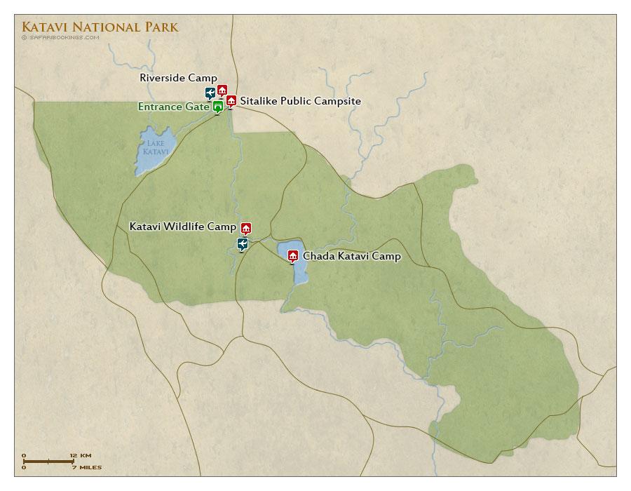 Detailed Map of Katavi National Park