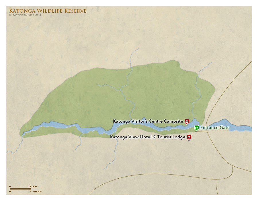 Detailed Map of Katonga Wildlife Reserve