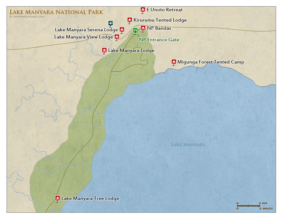 Detailed Map of Lake Manyara National Park