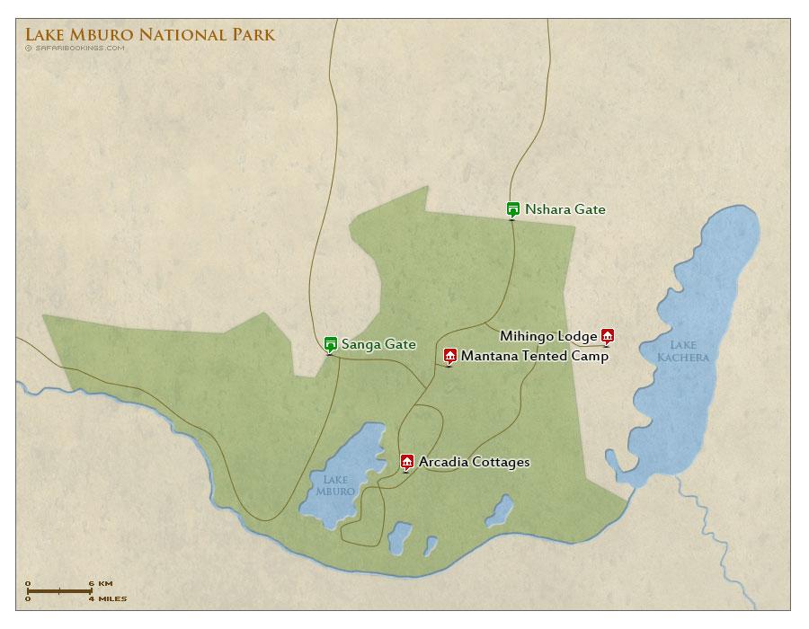 Detailed Map of Lake Mburo National Park