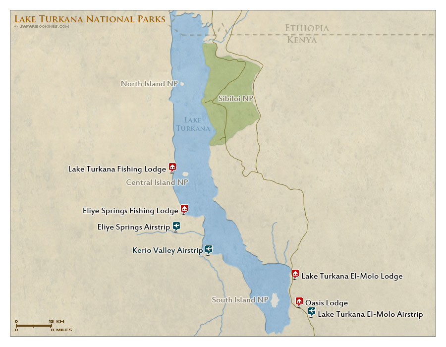 Detailed Map Of Lake Turkana U2013 Turkana Map