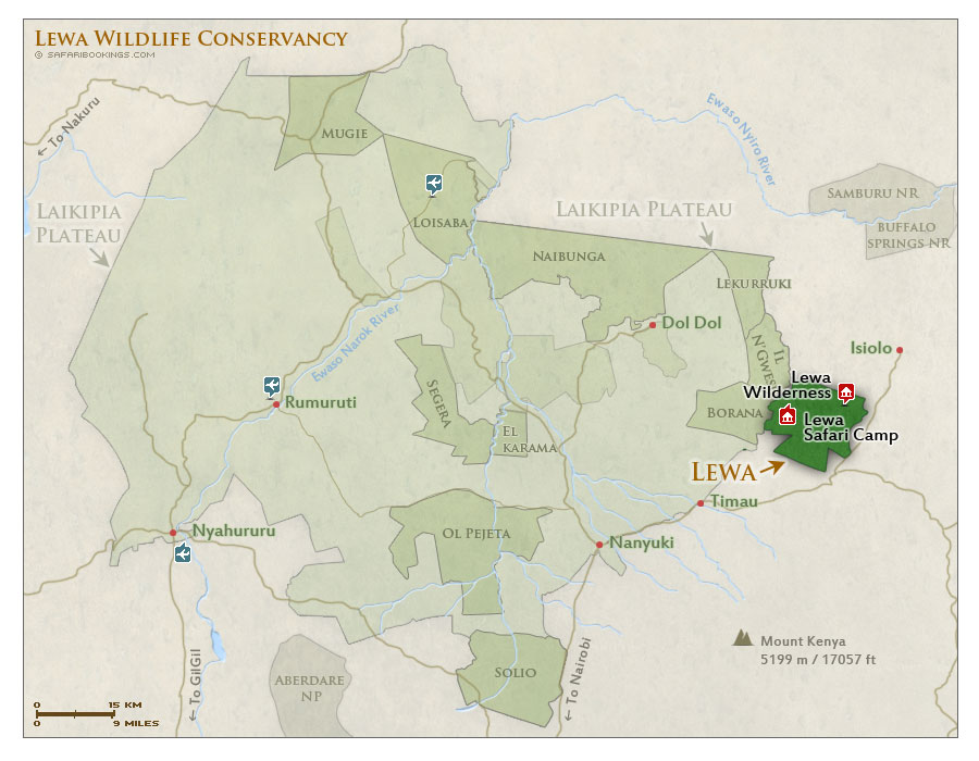 Detailed Map of Lewa Wildlife Conservancy