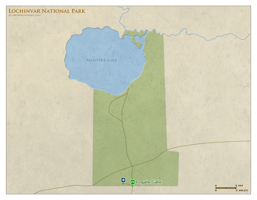Detailed Map of Lochinvar National Park