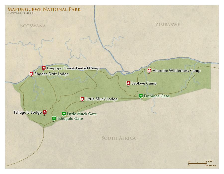 Detailed Map of Mapungubwe National Park