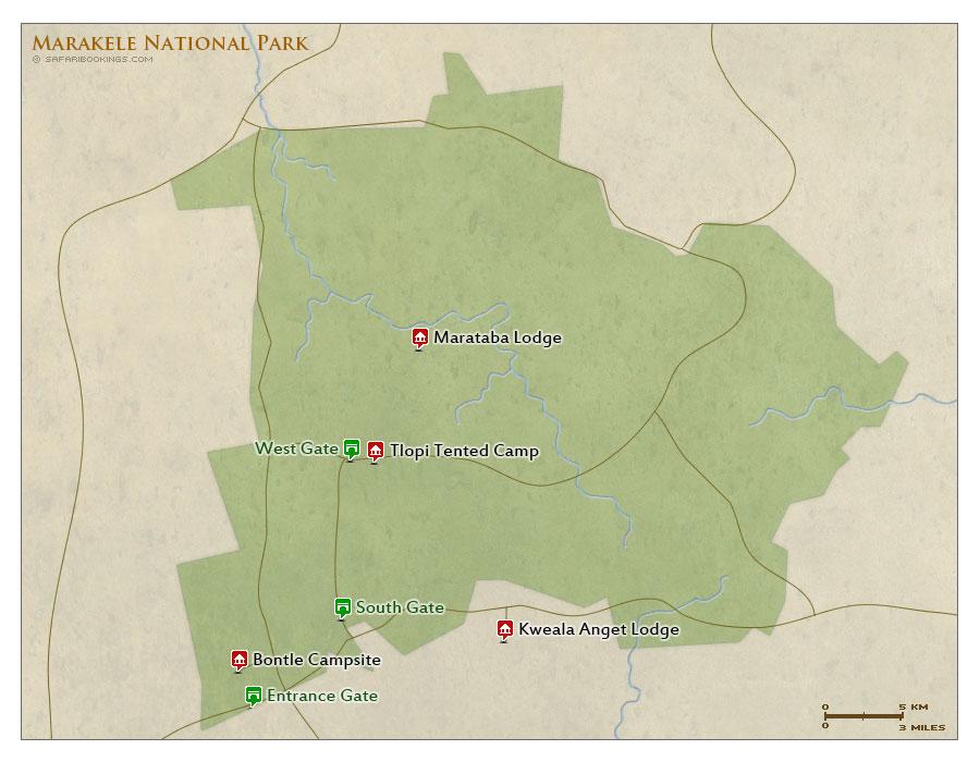 Detailed Map of Marakele National Park