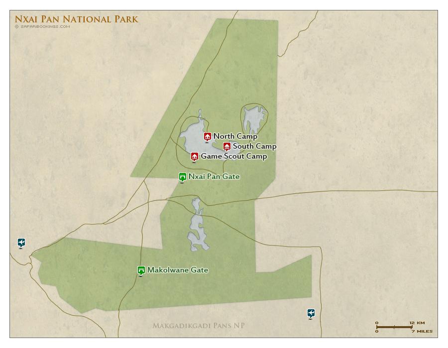 Detailed Map of Nxai Pan National Park