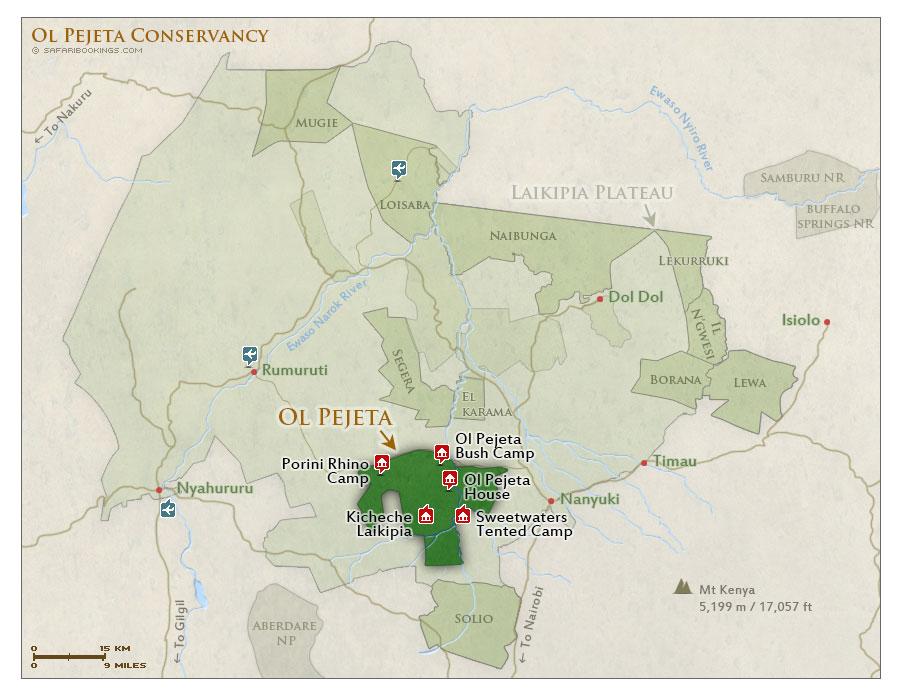 Ol Pejeta Travel Guide Map Amp More