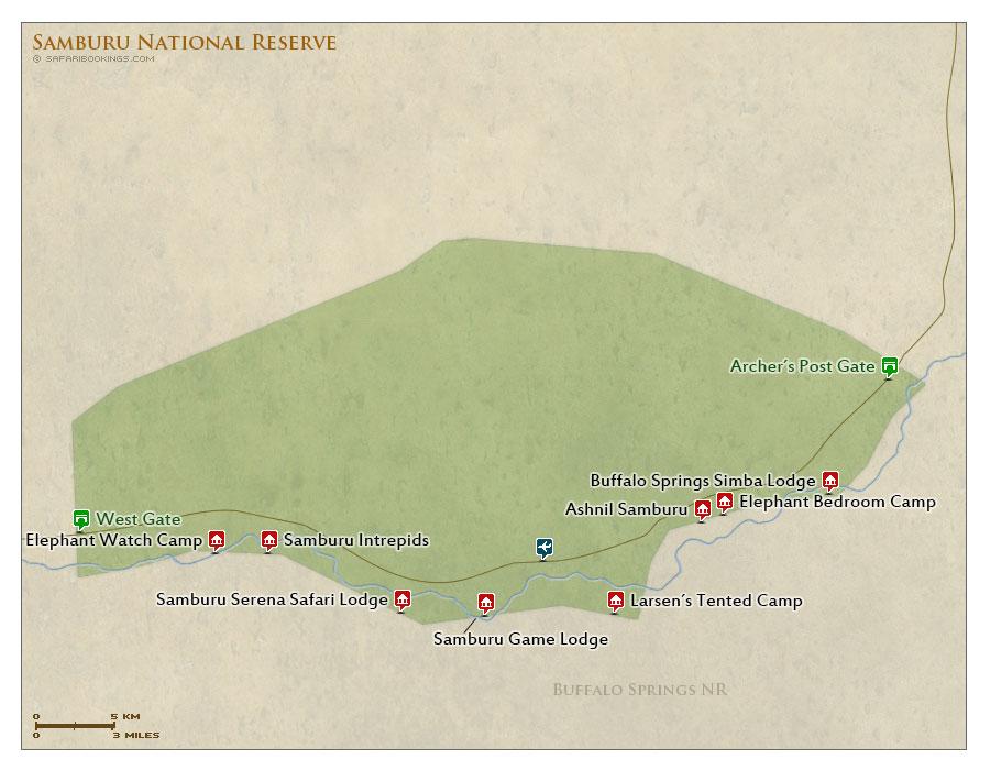 Detailed Map of Samburu National Reserve