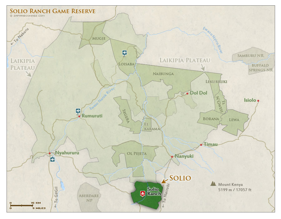 Detailed Map of Solio Ranch