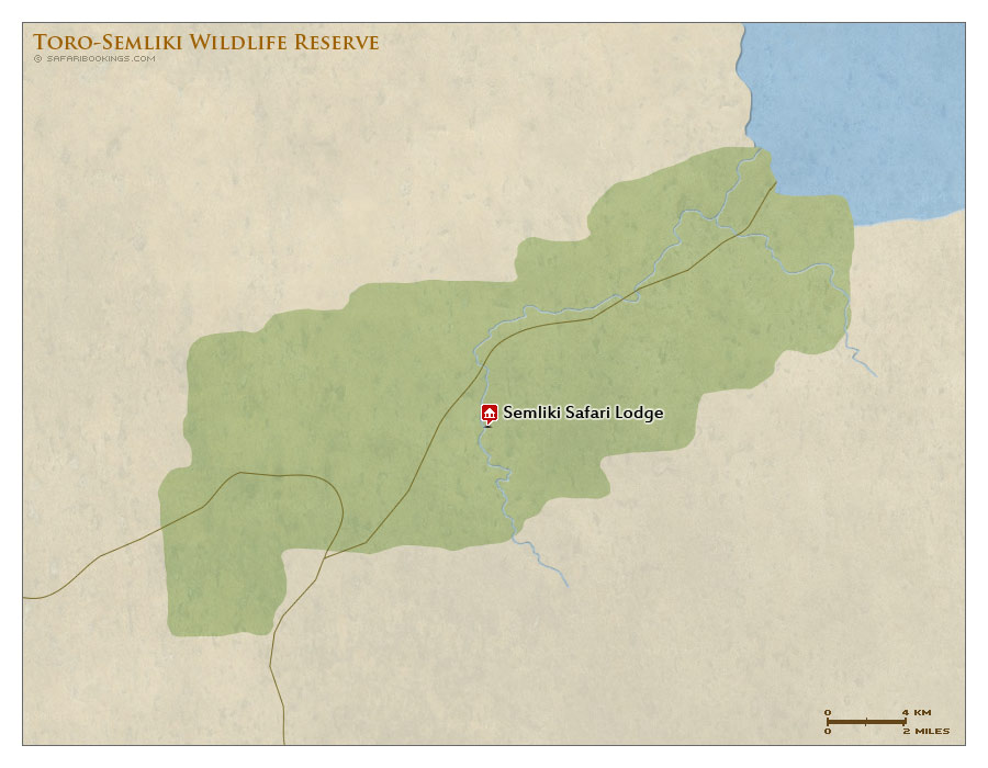 Detailed Map of Toro-Semliki Wildlife Reserve