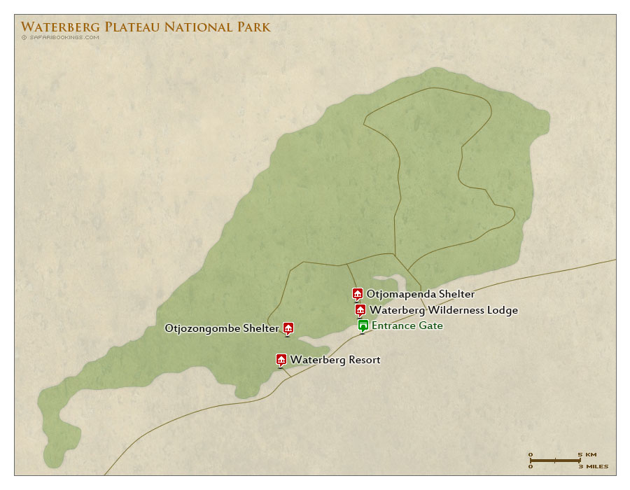 Detailed Map of Waterberg Plateau Park