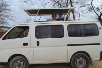 Safari mini bus in Kenya.