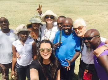 A happy group in the Maasai Mara wilderness.